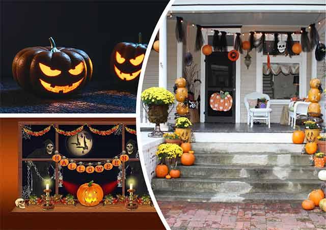 украшение дома на хэллоуин