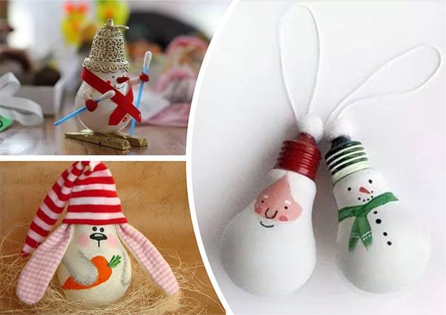 игрушки из лампочек на новый год