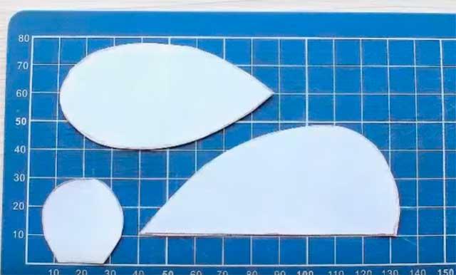 мышка из фетра схема