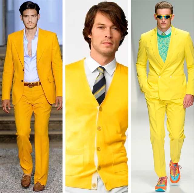 парни в желтом