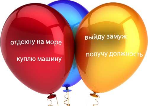шарики с пожеланиями
