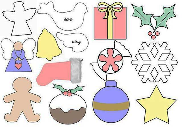 выкройки новогодних игрушек