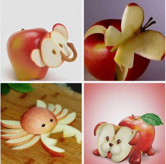 поделки из яблока