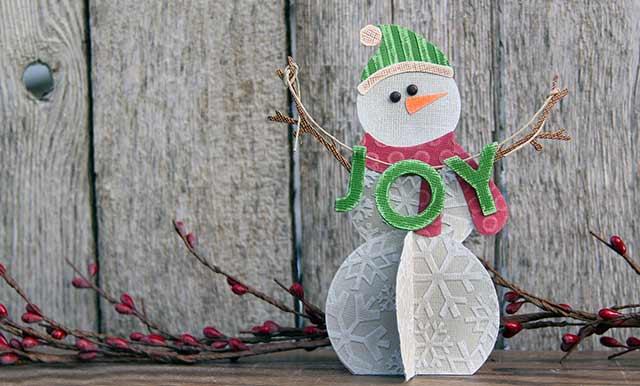 объемный снеговик