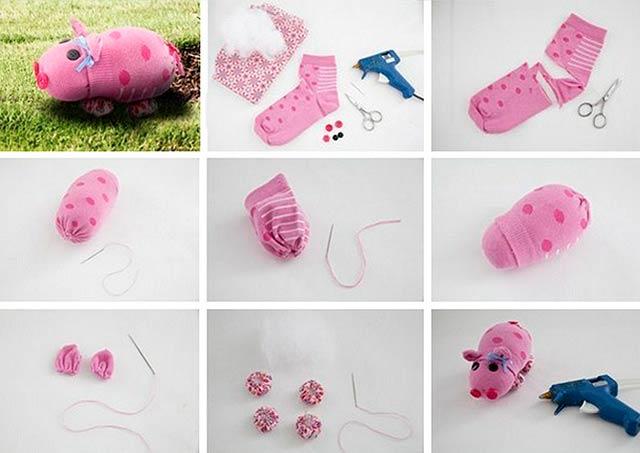 свинка из носка