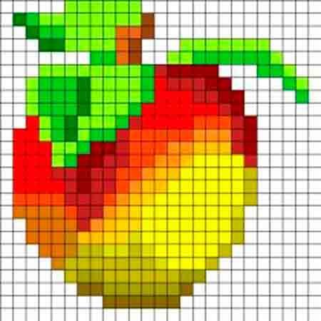 яблоко рисунок