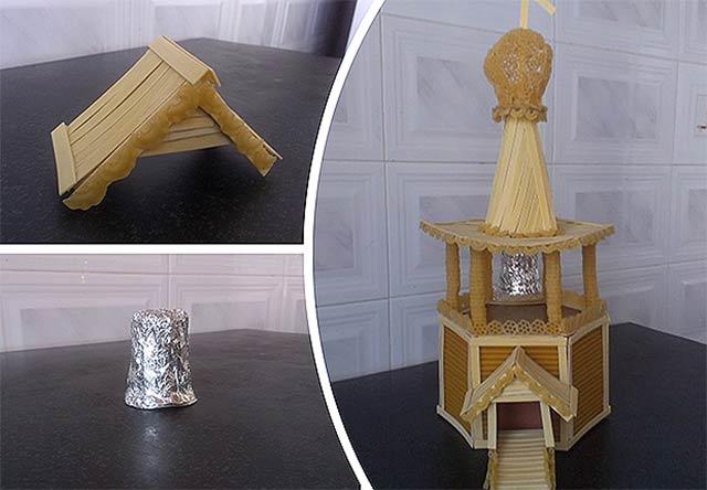 поделка храм с колоколом