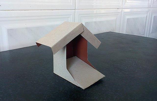 крыльцо из картона