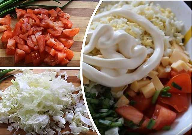 нарезка овощей в салат