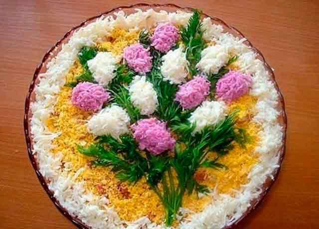 салат с букетом