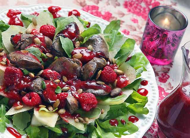 салат из малины