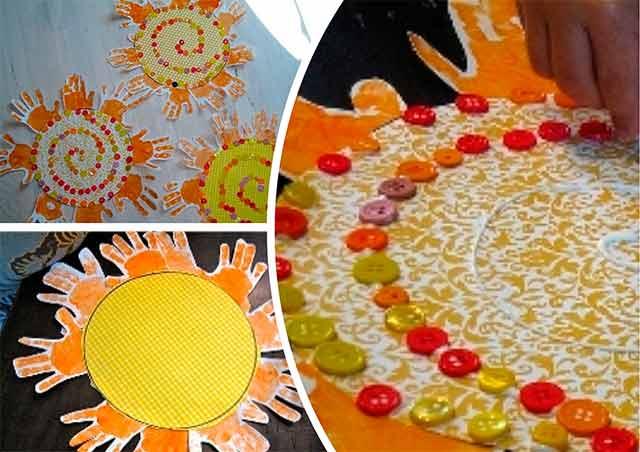 солнце из ладошек