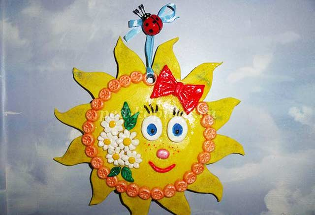 красивое солнышко поделка