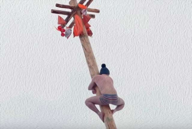 столб на Масленицу