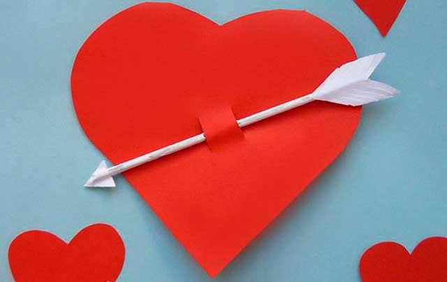 бумажная валентинка