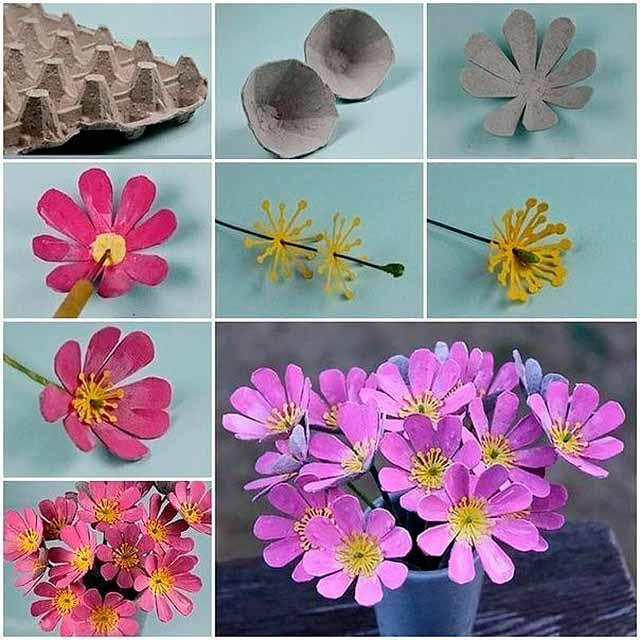 цветы из ячейки