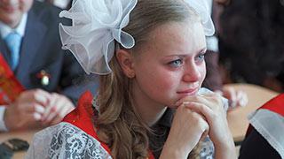 грустная выпускница