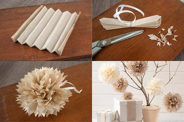 красивые бумажные цветы
