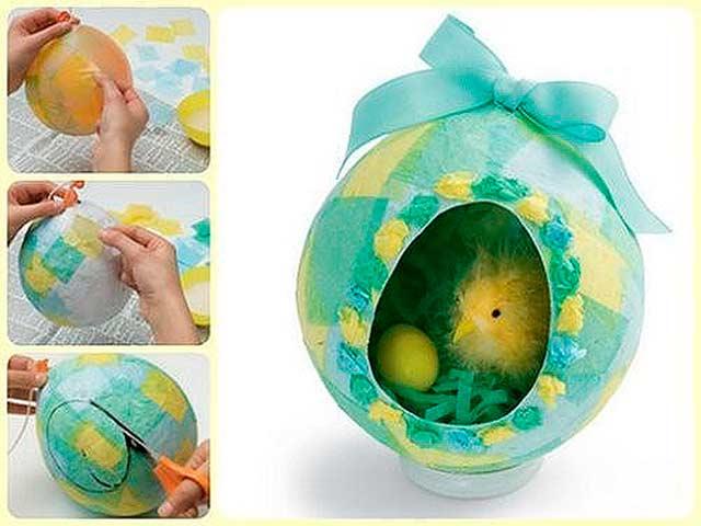 поделка на Пасху в виде птенца в яйце