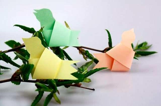 поделка - птички из бумаги