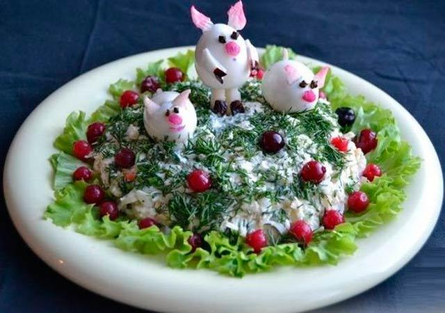 салат с поросятами