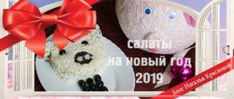 салаты на новый год 2019