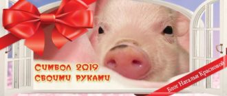 символ 2019 года желтой свиньи своими руками