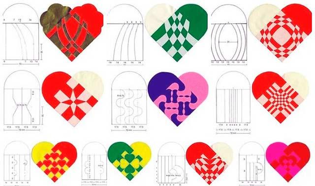 цветной шаблон для валентинок