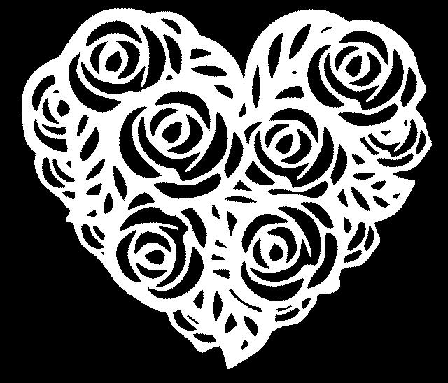 шаблон с розами