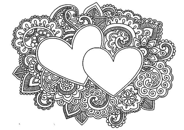 шаблон в виде сердца