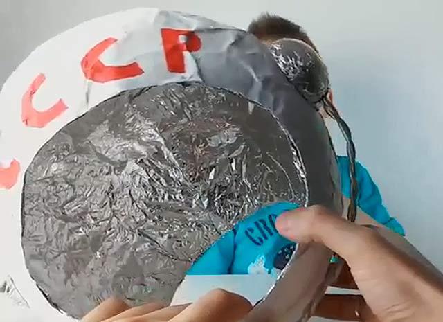 поделка-шлем космонавта