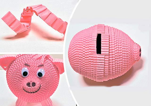 поделка свинка из подручных материалов