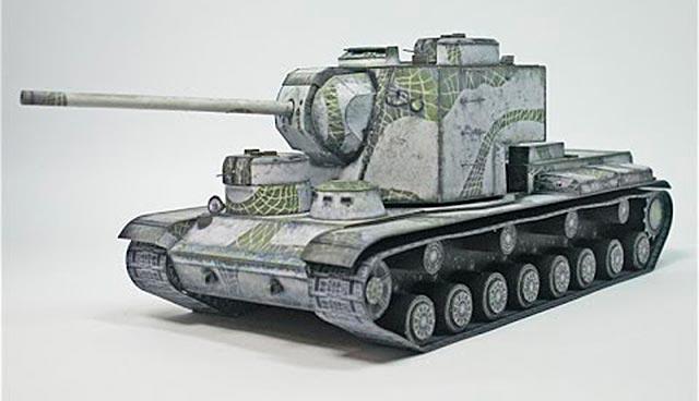 танк бумажный