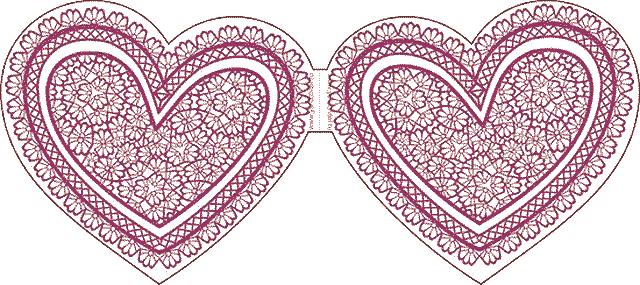 шаблон валентинки сердечком
