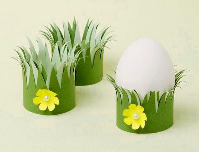 подставка для яиц из бумаги