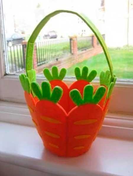 коробочка из морковок