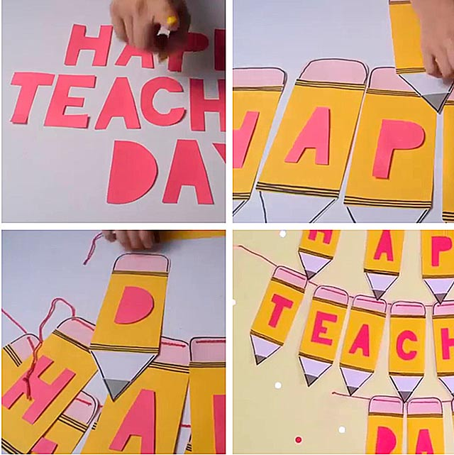 плакат на день учителя