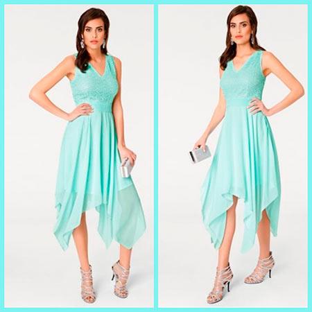 нежное асимметричное платье