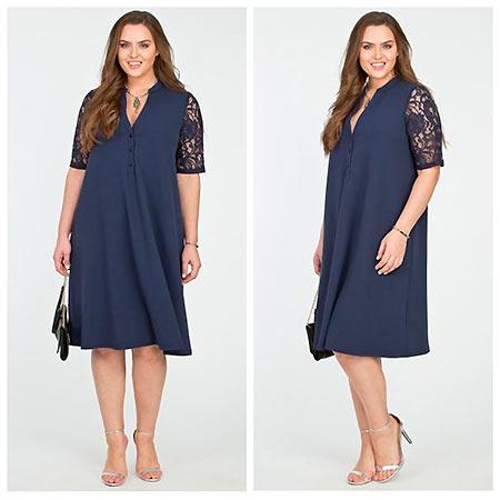 платье со вставами