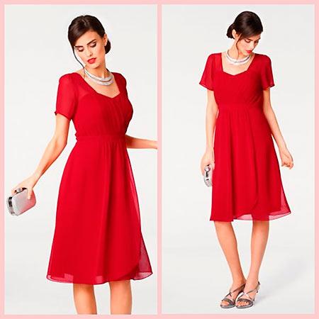 яркое красное платье для выпускного