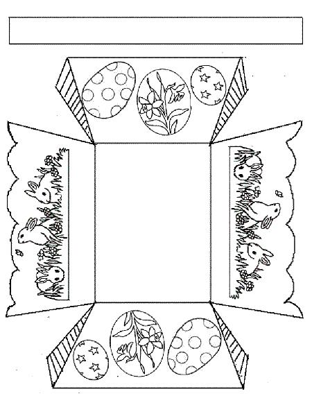 шаблон корзинки