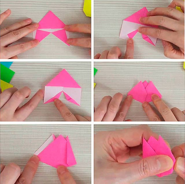 как сделать тюльпан из бумаги пошагово