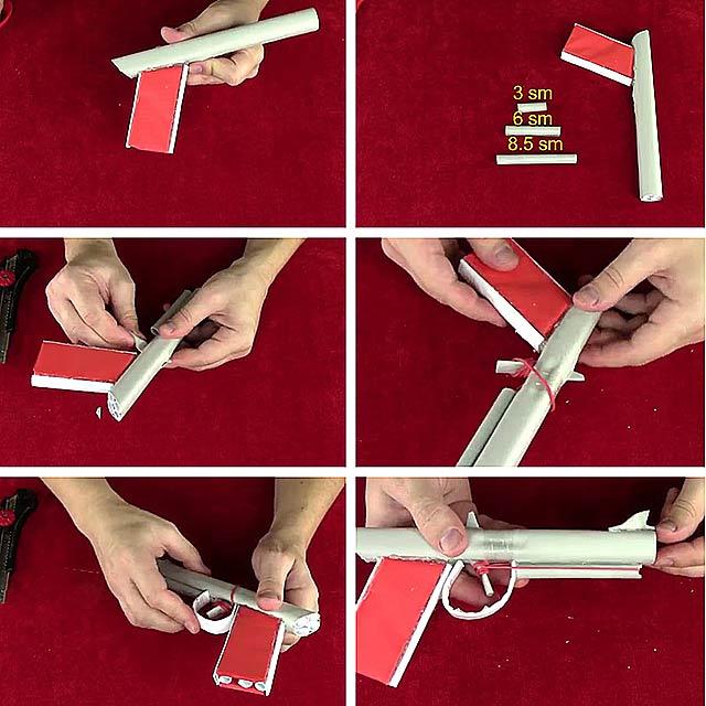 Холодное оружие (пистолет) из бумаги: 9 мастер-классов