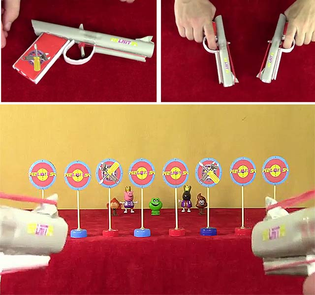 Холодное оружие (пистолет из бумаги): 9 мастер-классов