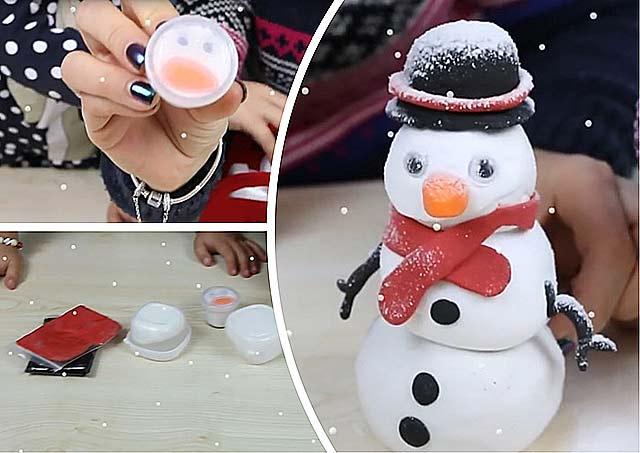 пластилиновый снеговик