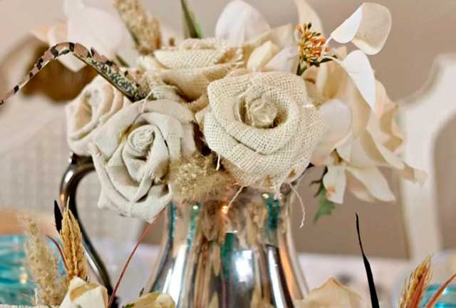 цветы изо льна