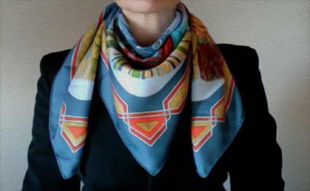 35 идей красиво завязать платок (короткий, длинный) на шее