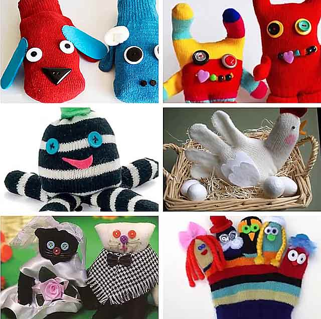 Поделки из носков ✂(зайчик, собачка, кукла, гусеница, снеговик) - 9 идей