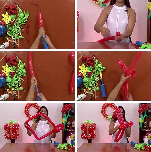 Цветы из шариков. Инструкция (начинающим схемы) с фото и видео