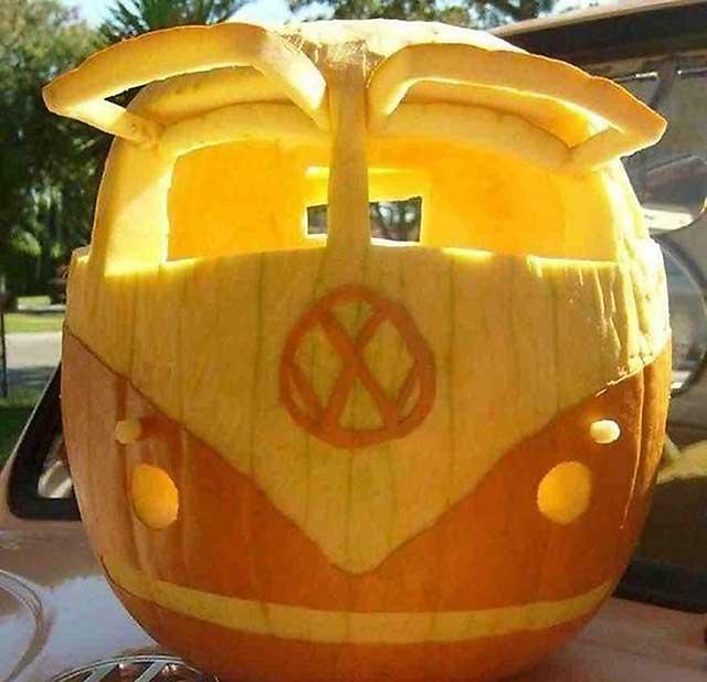 автобус из тыквы